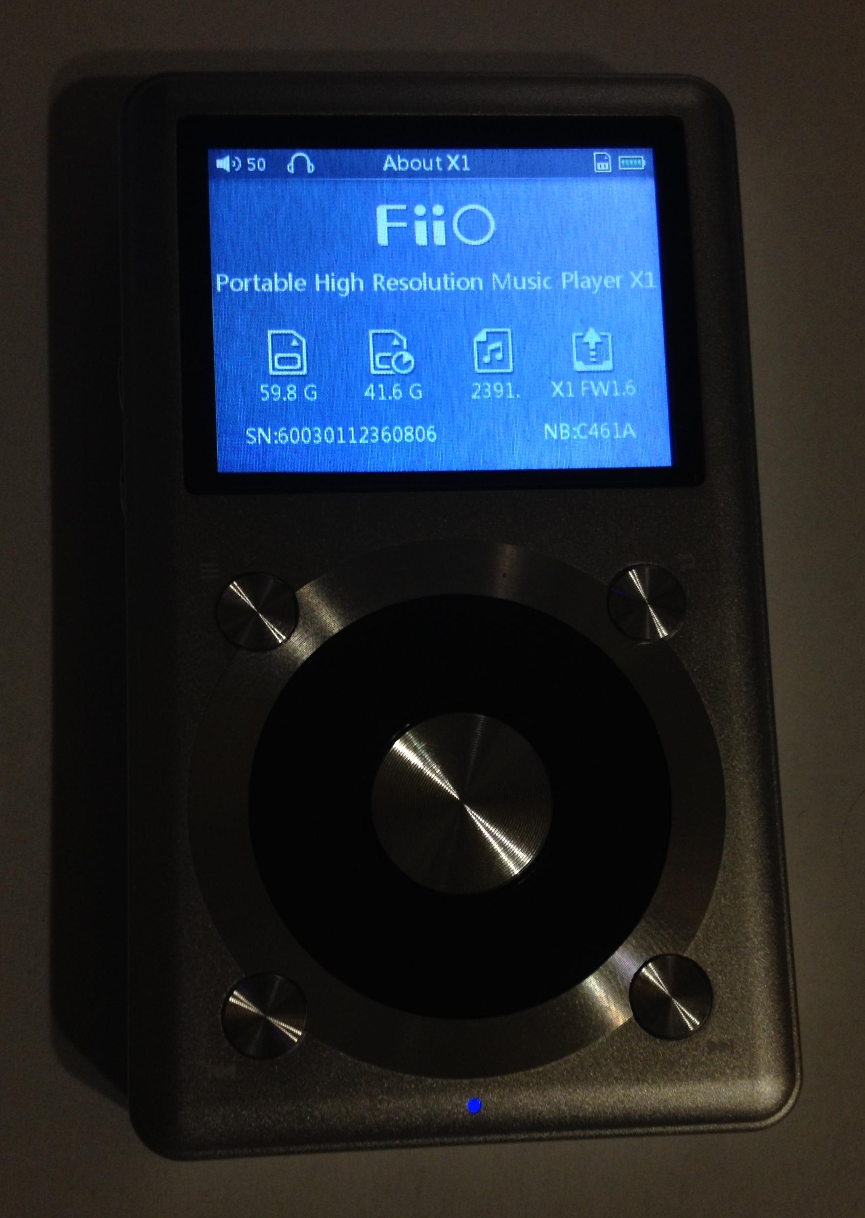 Fiio X1 firmware 1.6